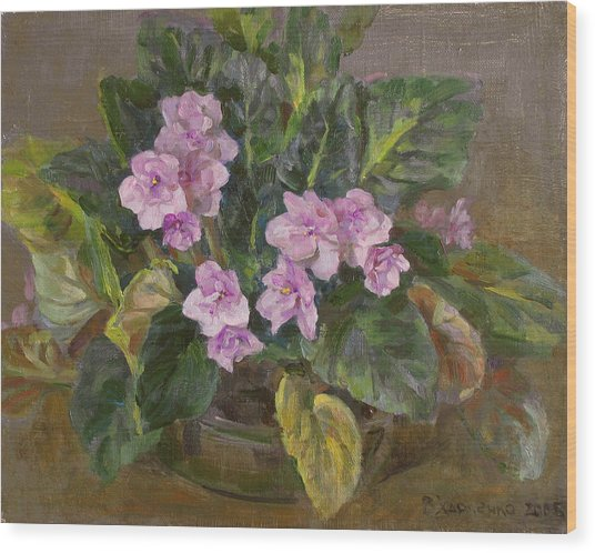 Blossoming Violet Wood Print by Victoria Kharchenko