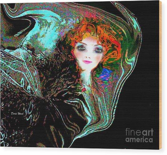 Blowing In The Wind Wood Print by Doris Wood