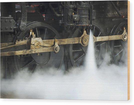 Blowing Of Steam Wood Print