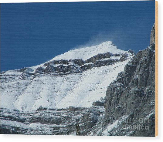 Wood Print featuring the photograph Blowing Snow by Ann E Robson