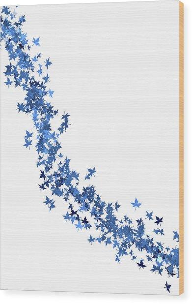 Blowing Winter Leaves Wood Print