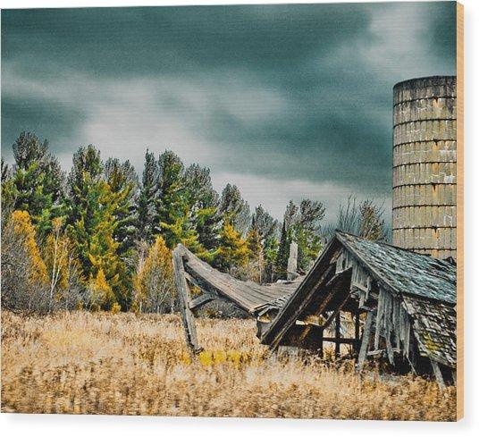 Blown Away Wood Print
