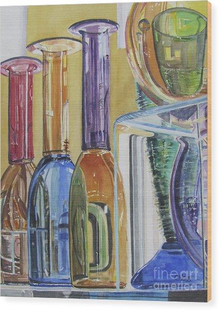 Blown Glass Wood Print