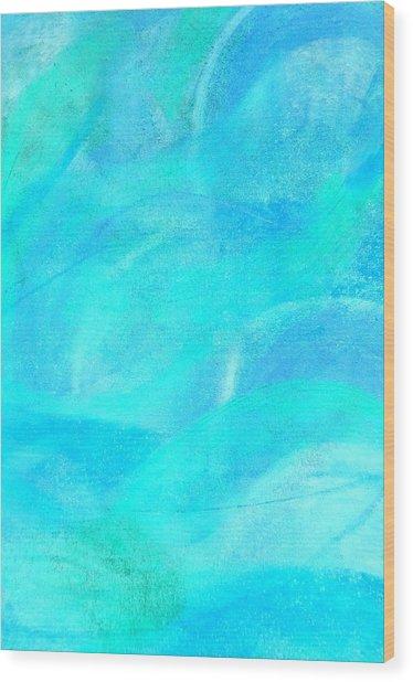 Blue And Aqua Abstract Wood Print