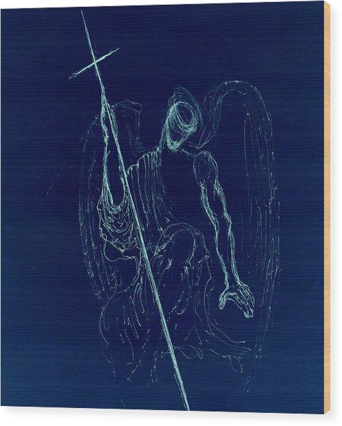 Blue Angel Series Wood Print