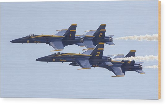 Blue Angels 20 Wood Print