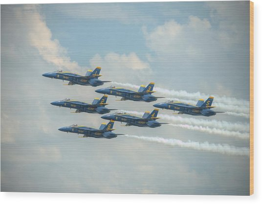 Blue Angels Delta Pass Wood Print