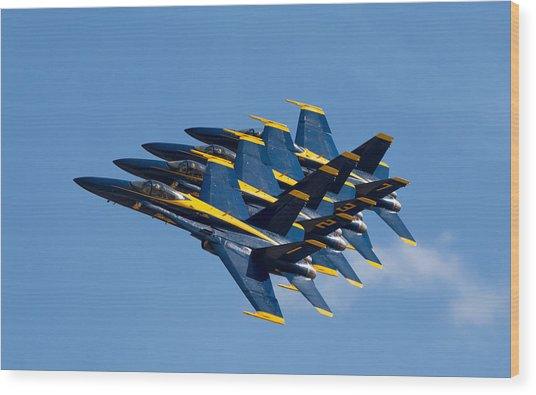 Blue Angels Echelon Wood Print