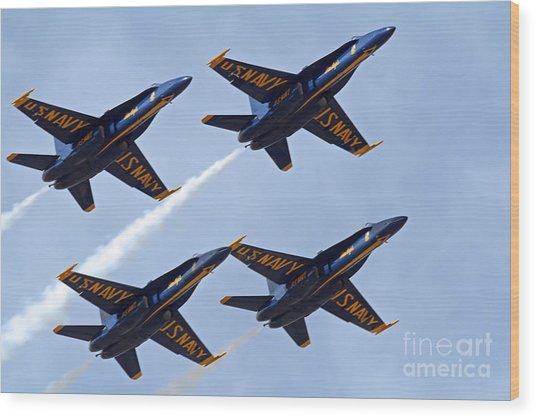 Blue Angels Over Colorado Wood Print