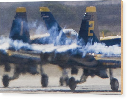 Blue Angels Ready For Takeoff Wood Print