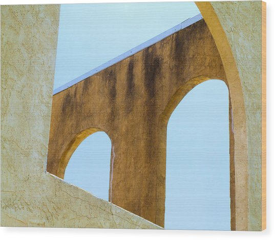 Blue Arches Wood Print