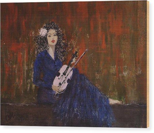 Blue Ballad... Wood Print