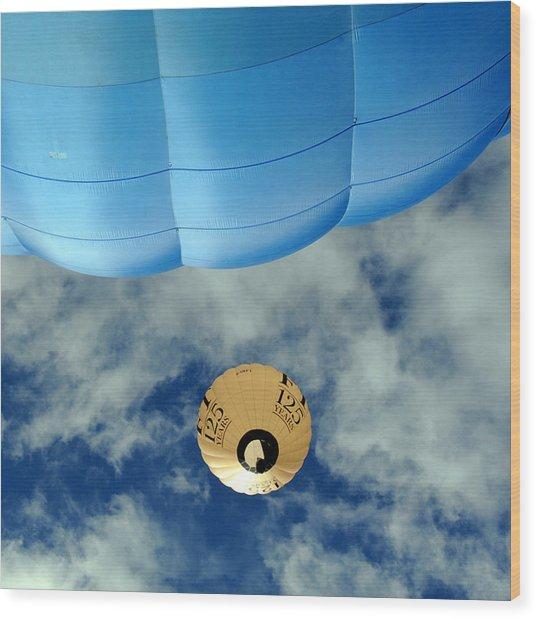 Blue Balloon Wood Print by Stephen Richards