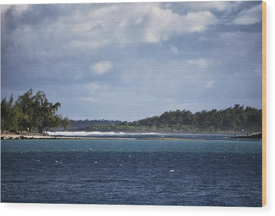 Blue Bay Wood Print