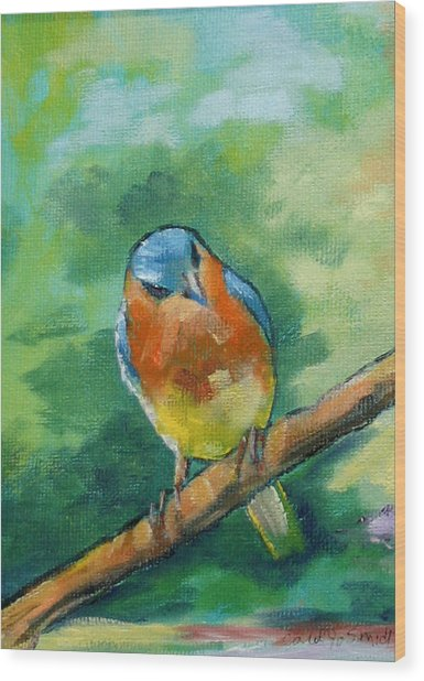 Blue Bird 1 Wood Print