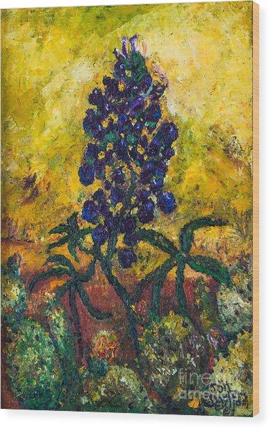 Blue Bonnet Wood Print