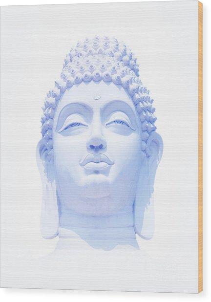 Blue Buddha Wood Print by Tim Gainey