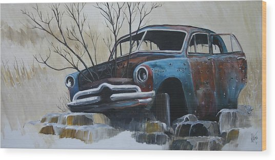 Blue Bullet Wood Print by Gregory Peters