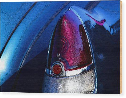 Blue Caddy Dreams Wood Print