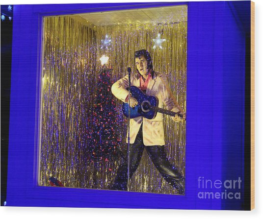 Blue Christmas Without Elvis Wood Print