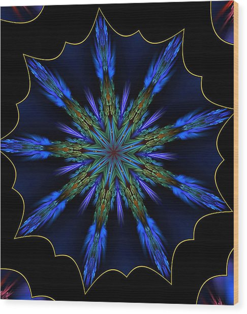 Blue Danube Kaleidoscope Wood Print