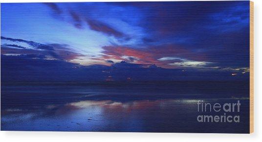 Deep Dawn Ponte Vedra Wood Print