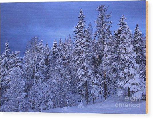 Blue Dawn Wood Print