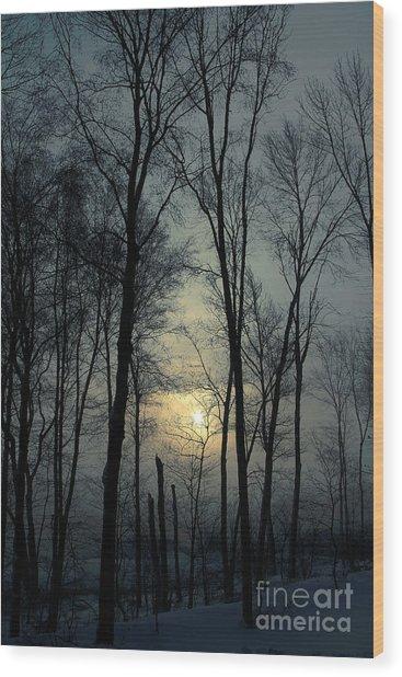 Blue Daybreak Wood Print