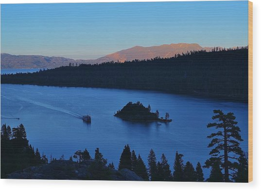 Blue Emerald Bay Lake Tahoe Wood Print