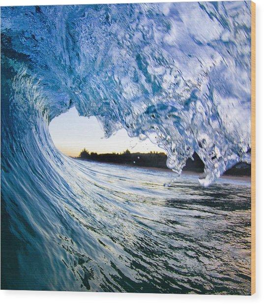 Blue Envelope  -  Part 2 Of 3 Wood Print