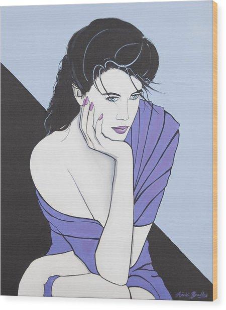 Blue Eyed Reflection Wood Print by Nickie Bradley