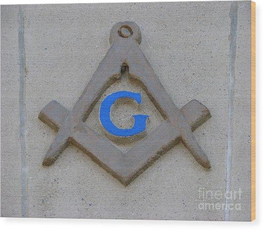 Blue G Wood Print