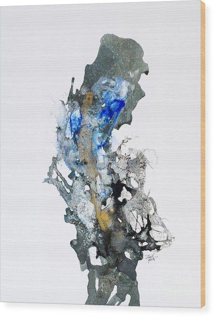 Blue-gold 04 Wood Print by David W Coffin