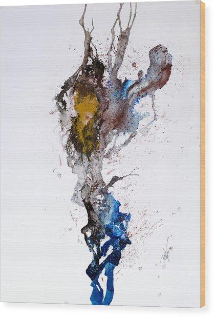 Blue-gold 06 Wood Print by David W Coffin