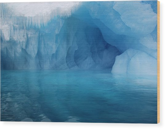 Blue Grotto Wood Print
