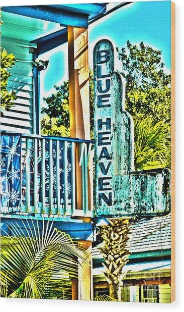 Blue Heaven In Key West - 1 Wood Print