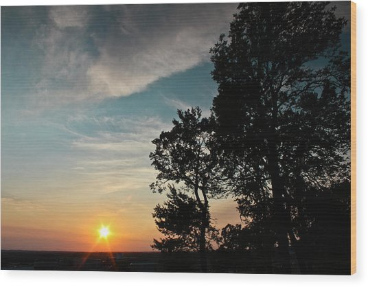 Blue Heaven Sunset Wood Print