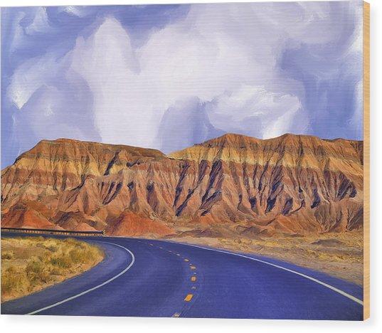 Blue Highway Wood Print