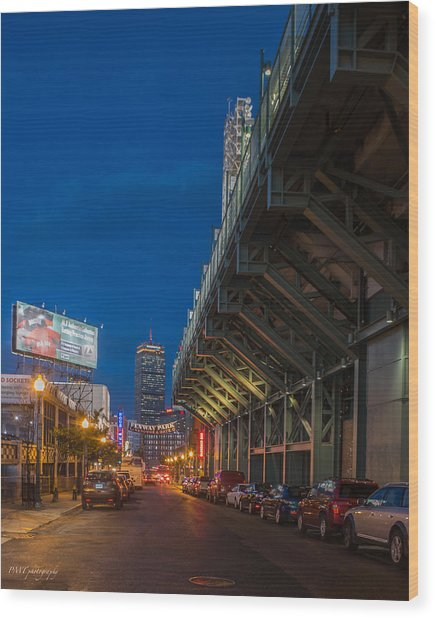 Blue Hour Fenway Wood Print