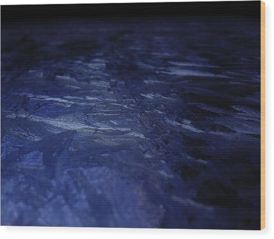 Blue Ice Planet Wood Print by Jaime Neo