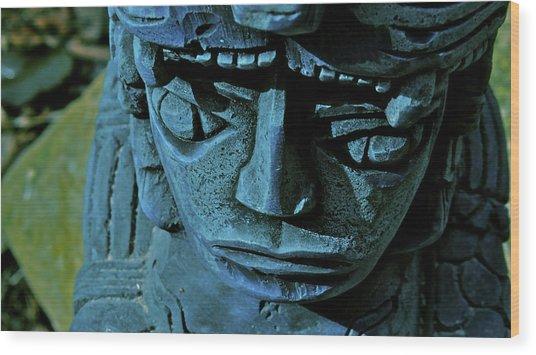 Blue Idol Wood Print
