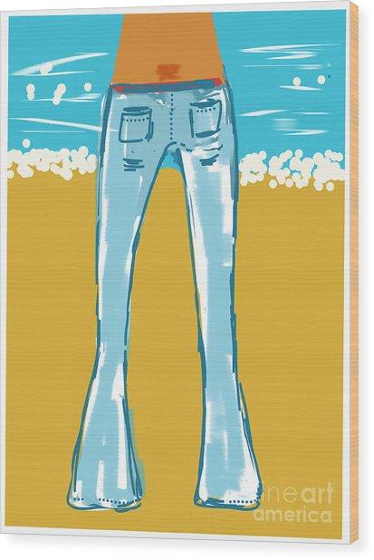 Blue Jean Summer Wood Print