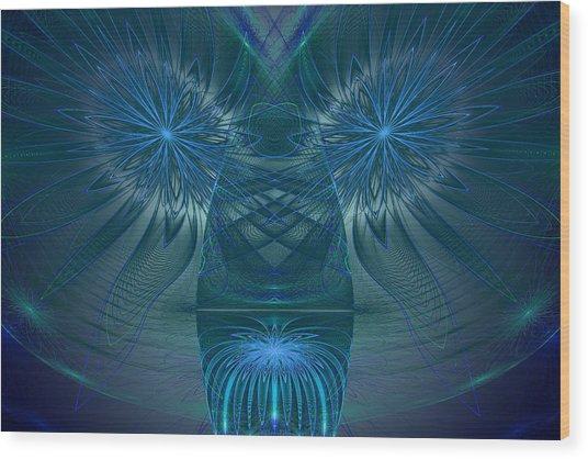 Blue Julian Vase Wood Print