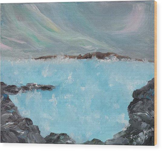 Blue Lagoon Iceland Wood Print