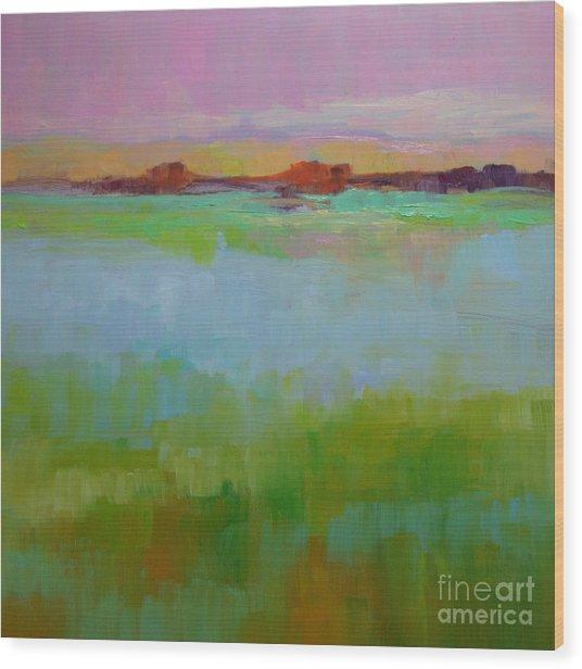 Blue Lagoon Wood Print by Virginia Dauth