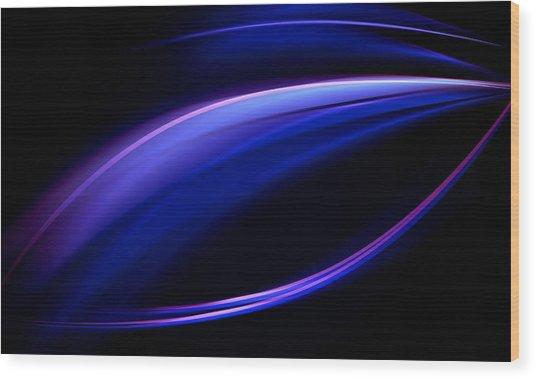 Blue Purple Light Wood Print