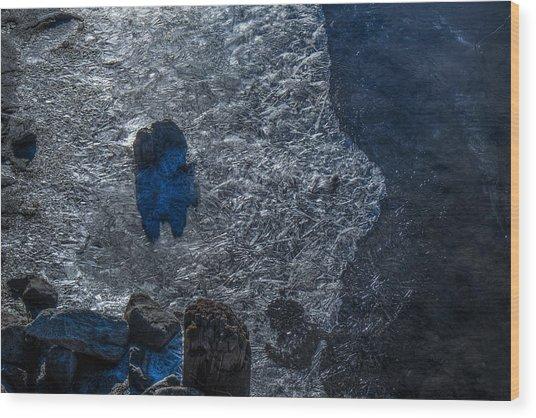 Blue Matrix On The Kuskokwim Wood Print