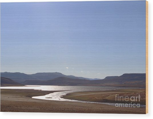 Blue Mesa Reservoir Wood Print