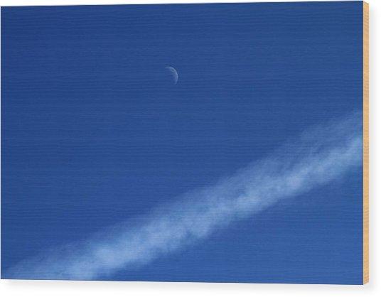 Blue Moon Wood Print by Roar Colbiornsen