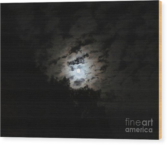Blue Moon  Wood Print by Zoe Vega Questell